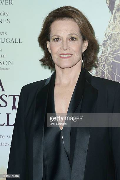 Actress Sigourney Weaver attends the Premiere of Focus Features' A Monster Calls at AMC Loews Lincoln Square on December 7 2016 in New York City