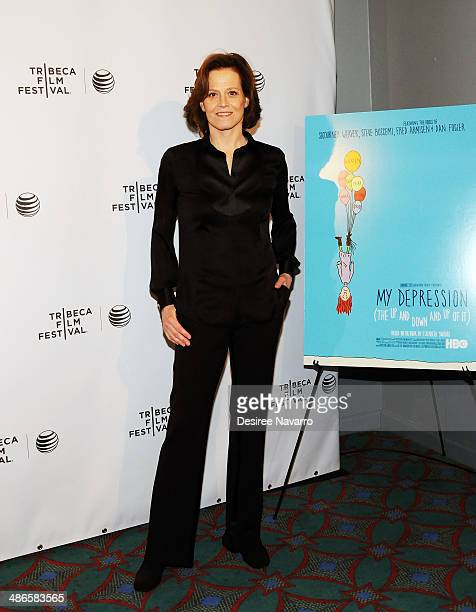 Actress Sigourney Weaver attends the Shorts Program City Limits during the 2014 Tribeca Film Festival at AMC Loews Village 7 on April 24 2014 in New...