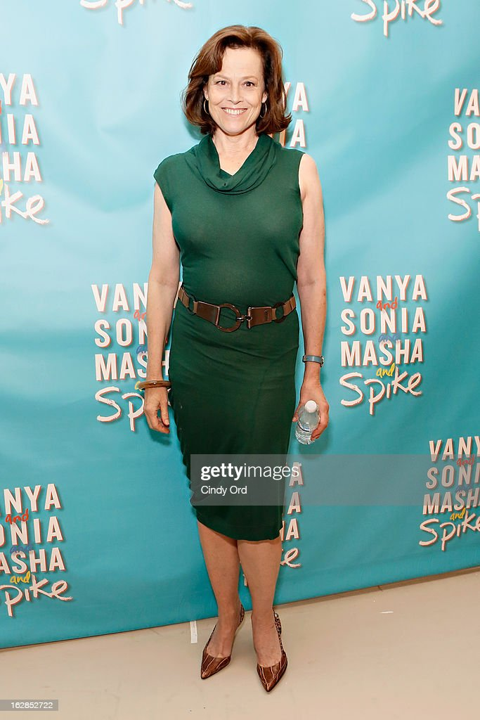 Actress Sigourney Weaver attends the 'Vanya And Sonia And Masha And Spike' Broadway Press Preview at The New 42nd Street Studios on February 28, 2013 in New York City.