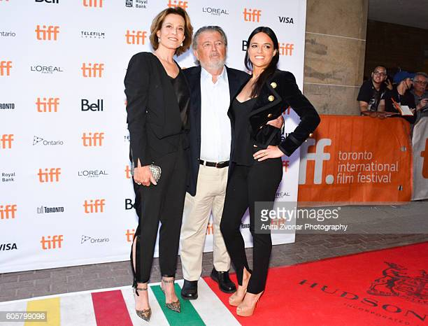 Actress Sigourney Weaver director Walter Hill and actress Michelle Rodriguez attend the Assignment premiere during 2016 Toronto International Film...