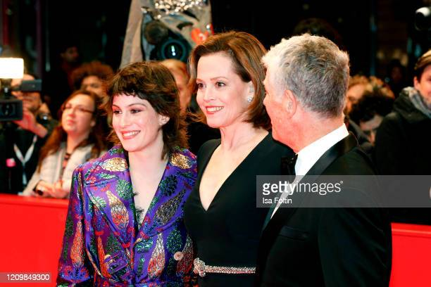US actress Sigourney Weaver her daughter Charlotte Simpson and husband Jim Simpson arrive for the opening ceremony and My Salinger Year premiere...
