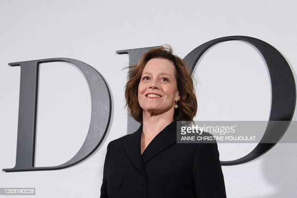 Actress Sigourney Weaver poses during the photocall prior to the Dior Women's Fall-Winter 2020-2021 Ready-to-Wear collection fashion show in Paris,...