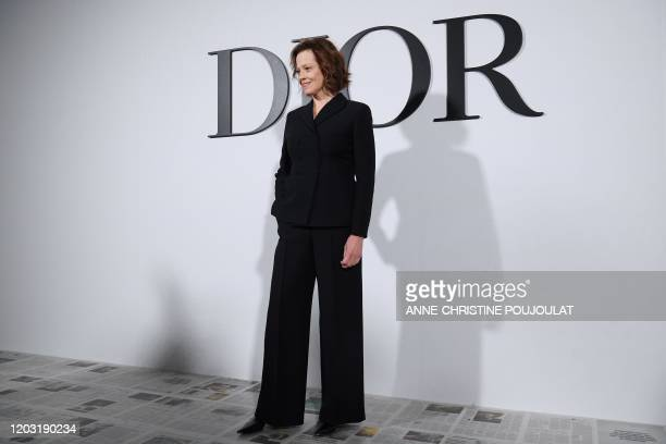 US actress Sigourney Weaver poses during the photocall prior to the Dior Women's FallWinter 20202021 ReadytoWear collection fashion show in Paris on...