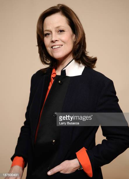 Actress Sigourney Weaver poses for a portrait during the 2012 Sundance Film Festival at the Getty Images Portrait Studio at T-Mobile Village at the...