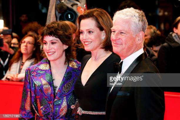 US actress Sigourney Weaver with her daughter Charlotte Simpson and her husband Jim Simpson arrive for the opening ceremony and My Salinger Year...