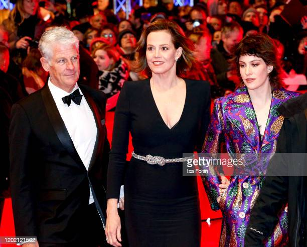 US actress Sigourney Weaver with her daughter Charlotte Simpson her husband Jim Simpson arrive for the opening ceremony and My Salinger Year premiere...