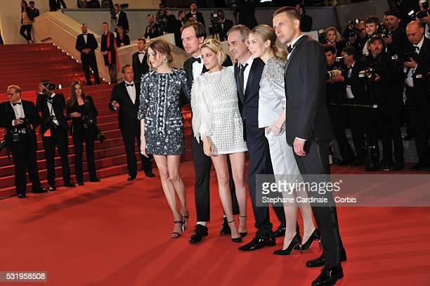Actress Sigrid Bouaziz actor Lars Eidinger actress Kristen Stewart director Olivier Assayas actress Nora von Waldstaetten and actor Anders Danielsen...