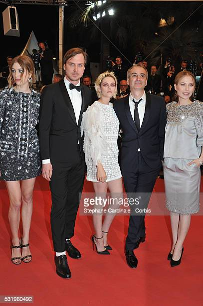 Actress Sigrid Bouaziz actor Lars Eidinger actress Kristen Stewart director Olivier Assayas and actress Nora von Waldstaetten attend the Personal...