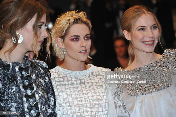 Actress Sigrid Bouaziz actress Kristen Stewart and actress Nora von Waldstaetten attend the Personal Shopper premiere during the 69th annual Cannes...