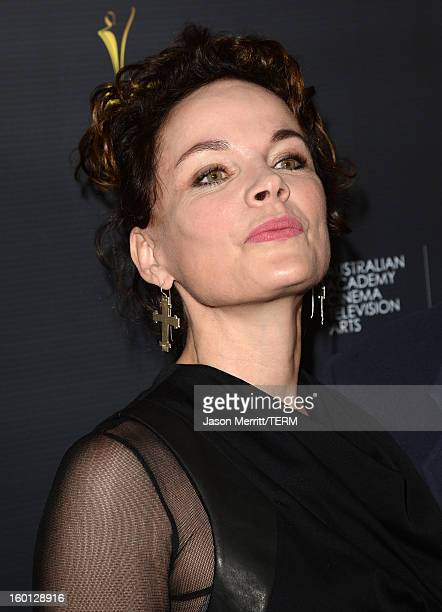Actress Sigrid Thornton attends the Australian Academy of Cinema and Television Arts' 2nd AACTA International Awards at Soho House on January 26 2013...
