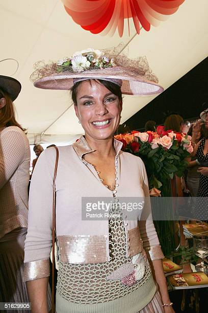 Actress Sigrid Thornton attends the Melbourne Cup Carnival's Derby Day in the Moet et Chandon marquee at Flemington October 30 2004 in Sydney...