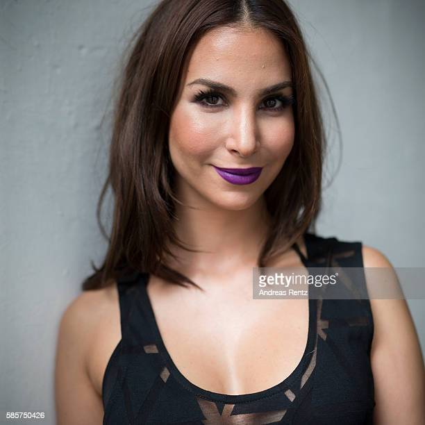 Actress Sila Sahin poses for a portrait ahead of the Breuninger show during Platform Fashion July 2016 at Areal Boehler on July 22, 2016 in...