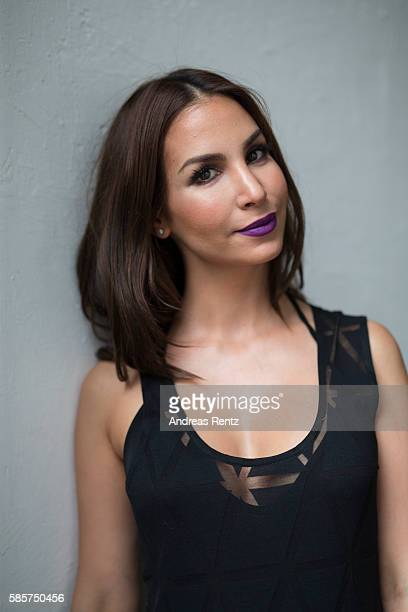 Actress Sila Sahin poses for a portrait ahead of the Breuninger show during Platform Fashion July 2016 at Areal Boehler on July 22 2016 in...