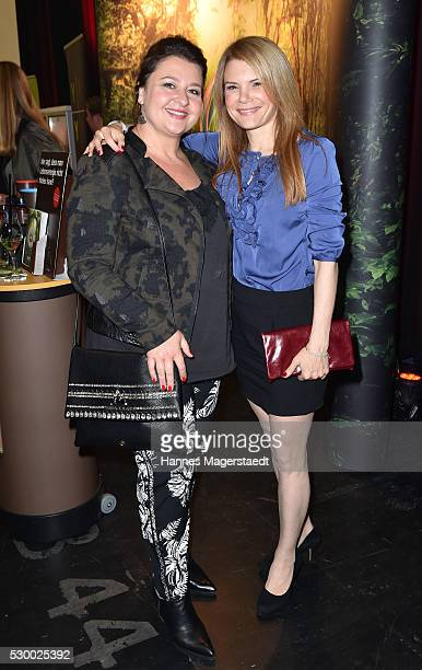 Actress Silke Popp and Christine Reimer during the VDMD Secret Fashion Show at ars24 on May 9 2016 in Munich Germany