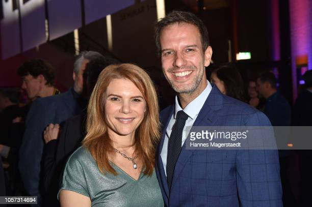 Actress Silke Popp and Florian Stadler during the 8th German Director Award Metropolis at HFF Munich at HFF Muenchen on November 4 2018 in Munich...