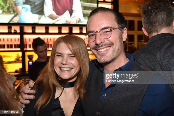 Actress Silke Popp and John Friedmann during the NdF after work press cocktail at Parkcafe on March 14 2018 in Munich Germany