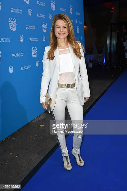 Actress Silke Popp attends the BR 50 year anniversary gala at Bavaria Filmstadt Geiselgasteig on October 10 2014 in Munich Germany