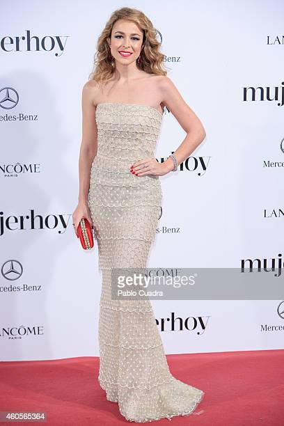 Actress Silvia Abascal attends 'Mujer Hoy' awards gala at Palace Hotel on December 16 2014 in Madrid Spain