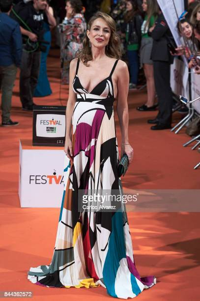 Actress Silvia Abascal attends the 'La Catedral del Mar' premiere at the Principal Teather during the FesTVal 2017 on September 8 2017 in...