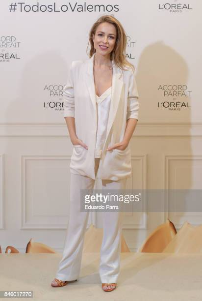 Actress Silvia Abascal attends the 'L'Oreal Accord Parfit' photocall at Circulo de Bellas Artes on September 12 2017 in Madrid Spain
