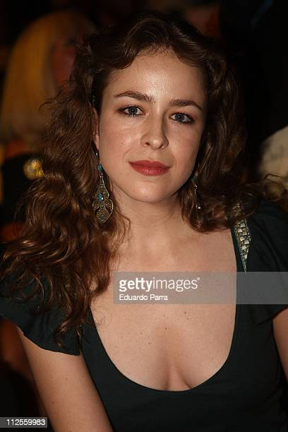 Actress Silvia Abascal attends the Madrid Fashion Week Pasarela Cibeles at Parque el Retiro on September 19 2007 in Madrid Spain