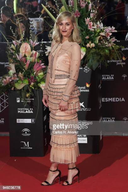 Actress Silvia Alonso attends 'Casi 40' premiere during the 21th Malaga Film Festival at the Cervantes Theater on April 20 2018 in Malaga Spain