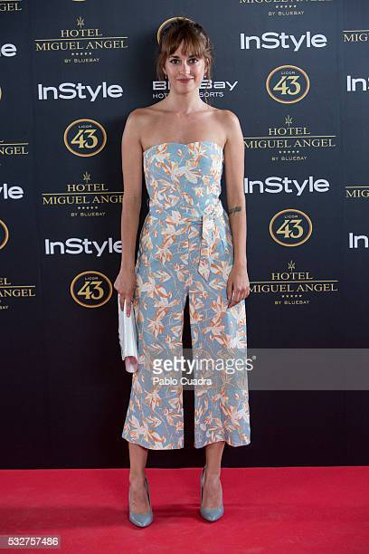 Actress Silvia Alonso attends the 'Live in Colors' photocall during the InStyle Beauty Day at the Miguel Angel Hotel Garden on May 19 2016 in Madrid...