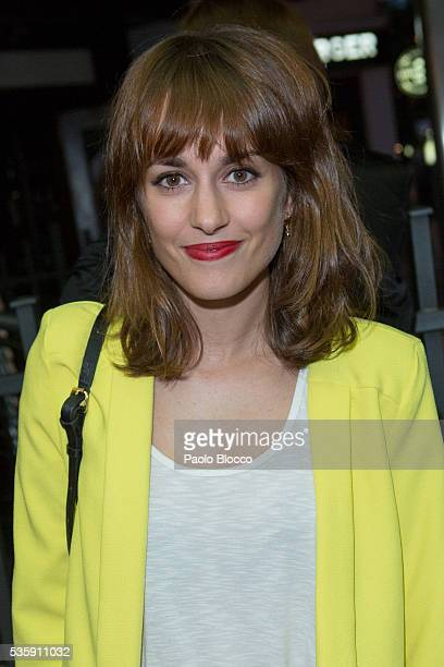 Actress Silvia Alonso is seen arriving to 'Nuestros Amantes' premiere at Palafox Cinema on May 30 2016 in Madrid Spain