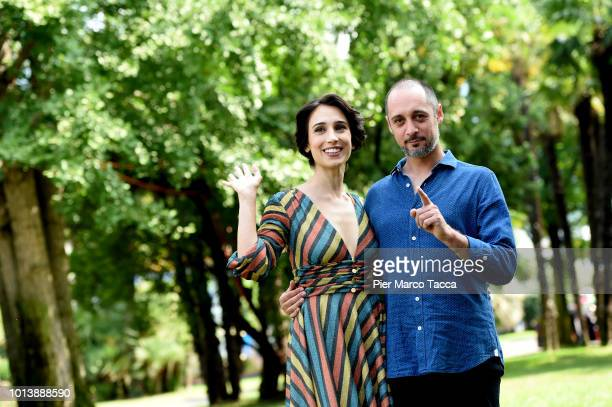 Actress Silvia D'Amico and Actor Daniele Parisi attend 'L'Ospite' photocall during the 71st Locarno Film Festival on August 9 2018 in Locarno...