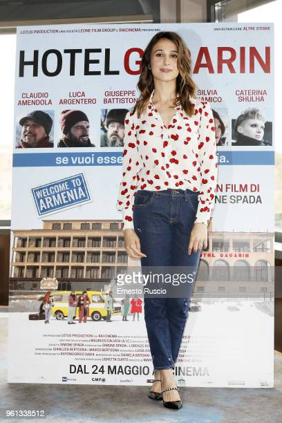 Actress Silvia D'Amico attends a photocall for 'Hotel Gagarin' at Hotel Eden on May 22 2018 in Rome Italy
