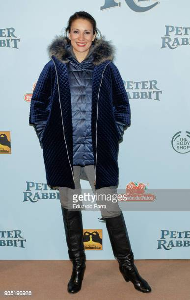 Actress Silvia Jato attends the 'Peter Rabbit' premiere at Capitol cinema on March 20 2018 in Madrid Spain