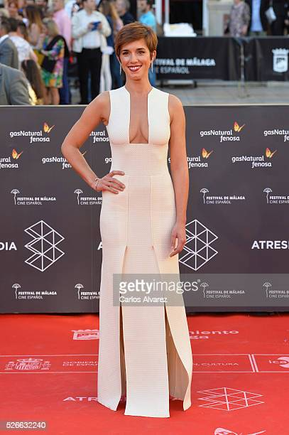 Actress Silvia Maya attends Nuestros Amantes premiere at the Cervantes Teather during the 19th Malaga Film Festival on April 30 2016 in Malaga Spain