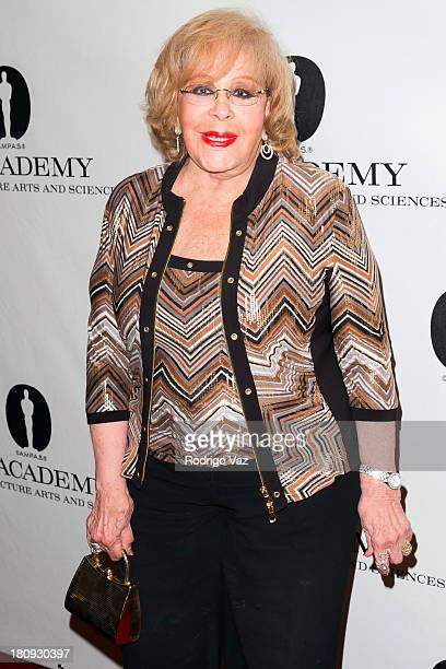 Actress Silvia Pinal attends the Academy of Motion Picture Arts and Sciences presenting An Academy Tribute to Gabriel Figueroa at AMPAS Samuel...