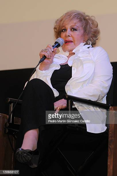 "Actress Silvia Pinal in the Tribute to Mario Moreno Cantinflas - Roundtable: Cantinflas and the National Cinematheque time Mario Moreno ""Cantinflas""..."