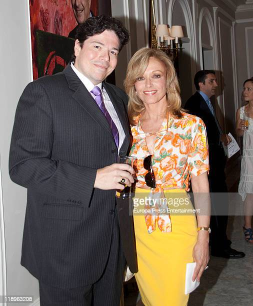 Actress Silvia Tortosa and her husband Carlos Canovas attend '2011 Clarins Awards' at Villamagna Hotel on July 12 2011 in Madrid Spain