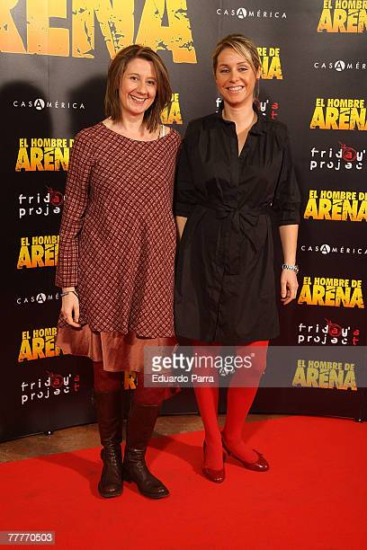 Actress Silvia Wheeler and Esperanza Elipe attend the premiere of the film El Hombre de Arena November 7 2007 at the Cine Palacio de la Musica in...