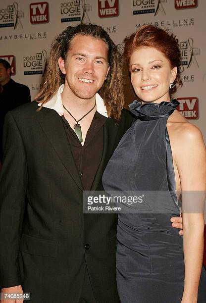 Actress Simmone Jade Mackinnon and guest arrive at the 2007 TV Week Logie Awards at the Crown Casino on May 6 2007 in Melbourne Australia The annual...