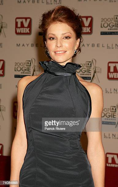Actress Simmone Jade Mackinnon arrives at the 2007 TV Week Logie Awards at the Crown Casino on May 6 2007 in Melbourne Australia The annual...