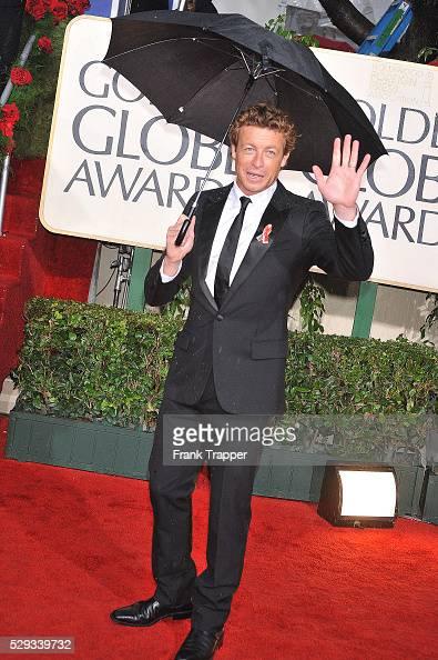Actress Simon Baker arrives at the 67th Golden Globe