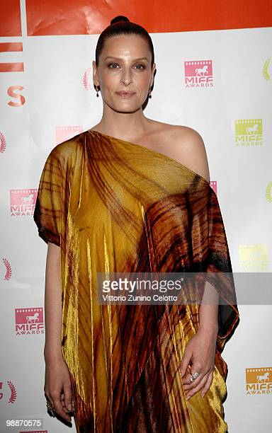 Actress Simona Borioni attends 'Le Ultime 56 Ore' Red Carpet held at Cinema Odeon on May 5 2010 in Milan Italy