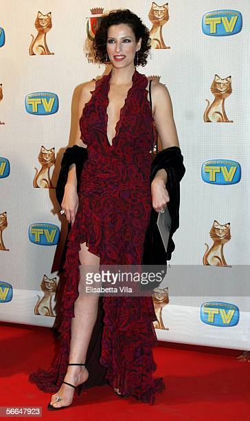 Actress Simona Borioni attends the TV Sport Cinema And Music Italian Awards at the Auditorium on January 22 2006 in Rome Italy