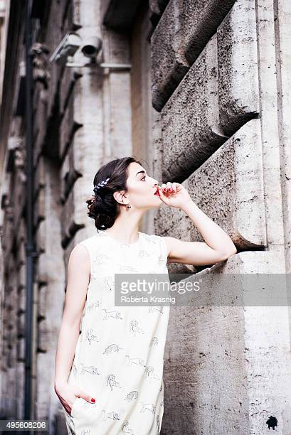 Actress Simona Tabasco is photographed for Self Assignment on June 15 2015 in Rome Italy