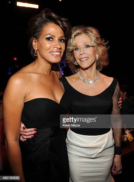 Actress Simone Bent and honoree Jane Fonda attend the 2014 AFI Life Achievement Award A Tribute to Jane Fonda after party at the Dolby Theatre on...