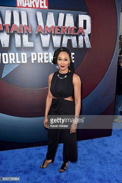 Actress Simone Cook attends the premiere of Marvel's Captain America Civil War at Dolby Theatre on April 12 2016 in Los Angeles California