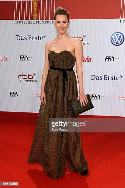 Actress Simone Hanselmann attends the 'German film award 2010' at Friedrichstadtpalast on April 23, 2010 in Berlin, Germany.