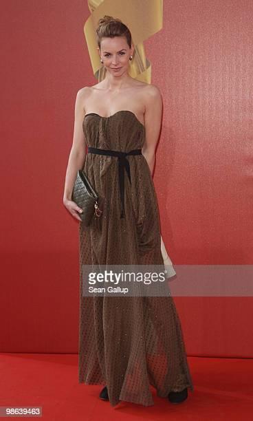 Actress Simone Hanselmann attends the German film award at Friedrichstadtpalast on April 23, 2010 in Berlin, Germany.