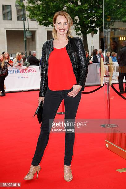 Actress Simone Hanselmann attends the Premiere of 'Seitenwechsel' at the Zoo Palast on May 24 2016 in Berlin Germany