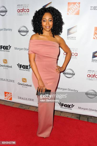 Actress Simone Missick attends 8th Annual AAFCA Awards at Taglyan Complex on February 8 2017 in Los Angeles California