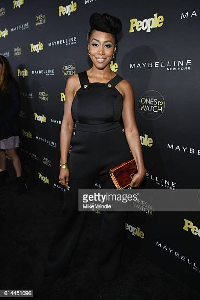 Actress Simone Missick attends People's Ones to Watch event presented by Maybelline New York at EP LP on October 13 2016 in Hollywood California