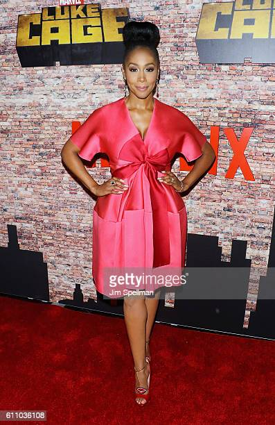 Actress Simone Missick attends the Luke Cage New York premiere at AMC Magic Johnson Harlem on September 28 2016 in New York City